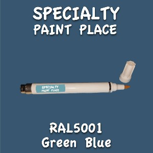 RAL 5001 green blue pen