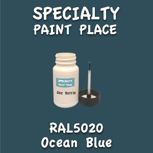 RAL 5020 ocean blue 2oz bottle with brush