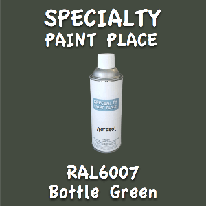 RAL 6007 bottle green 16oz aerosol can