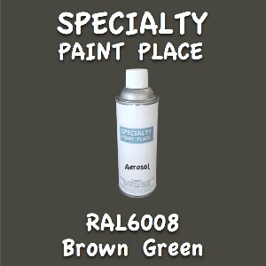 RAL 6008 brown green 16oz aerosol can