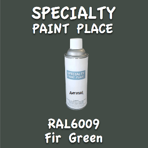 RAL 6009 fir green 16oz aerosol can