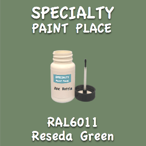 RAL 6011 reseda green 2oz bottle with brush