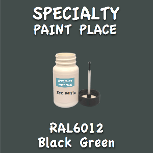 RAL 6012 black green 2oz bottle with brush