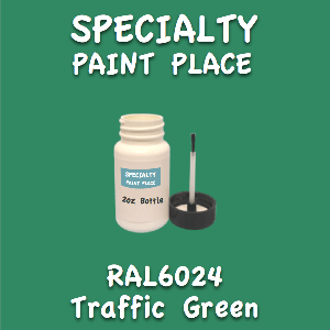 RAL 6024 traffic green 2oz bottle with brush