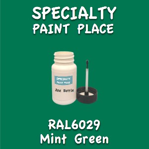 RAL 6029 mint green 2oz bottle with brush