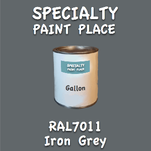 RAL 7011 iron grey gallon