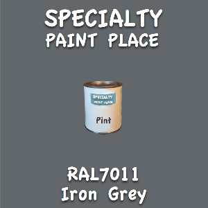 RAL 7011 iron grey pint
