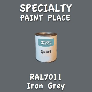 RAL 7011 iron grey quart