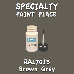 RAL 7013 brown grey 2oz bottle with brush