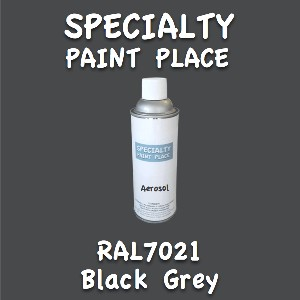 RAL 7021 black grey 16oz aerosol can