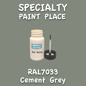 RAL 7033 cement grey 2oz bottle with brush
