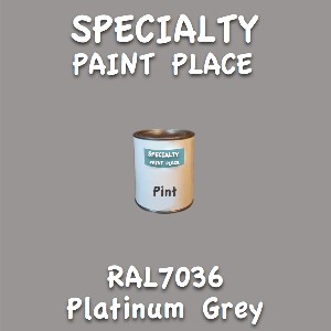 RAL 7036 platinum grey pint