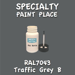 RAL 7043 traffic grey b 2oz bottle with brush