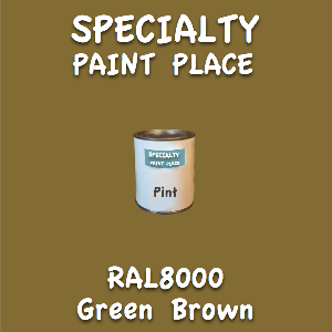 RAL 8000 green brown pint