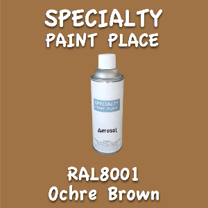 RAL 8001 ochre brown 16oz aerosol can