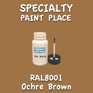 RAL 8001 ochre brown 2oz bottle with brush