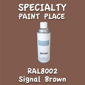 RAL 8002 signal brown 16oz aerosol can