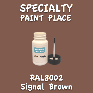 RAL 8002 signal brown 2oz bottle with brush