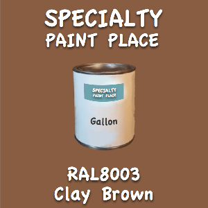 RAL 8003 clay brown gallon