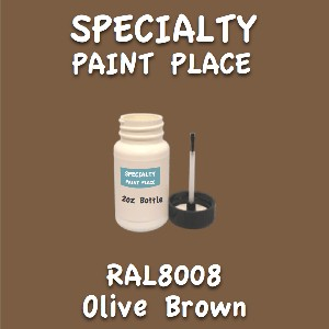 RAL 8008 olive brown 2oz bottle with brush