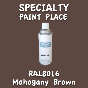 RAL 8016 mahogany brown 16oz aerosol can
