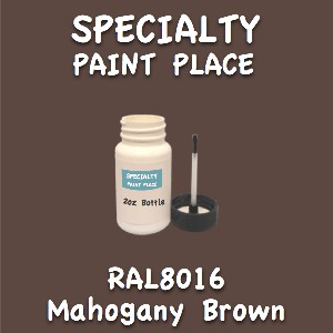 RAL 8016 mahogany brown 2oz bottle with brush