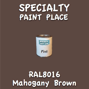 RAL 8016 mahogany brown pint