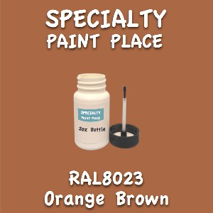 RAL 8023 orange brown 2oz bottle with brush