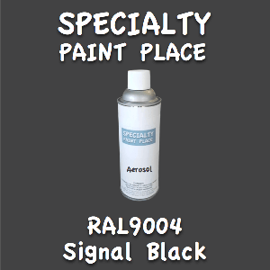 RAL 9004 signal black 16oz aerosol can