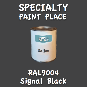 RAL 9004 signal black gallon
