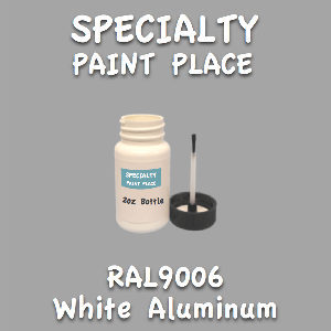 RAL 9006 white aluminum 2oz bottle with brush