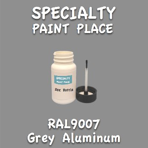 RAL 9007 grey aluminum 2oz bottle with brush