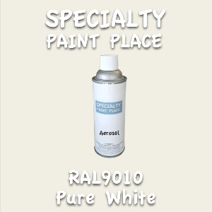 RAL 9010 pure white 16oz aerosol can