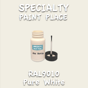 RAL 9010 pure white 2oz bottle with brush