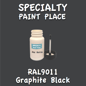 RAL 9011 graphite black 2oz bottle with brush