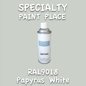 RAL 9018 papyrus white 16oz aerosol can