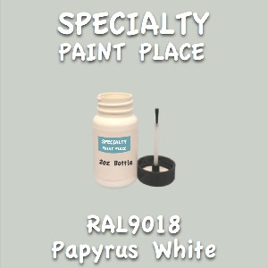 RAL 9018 papyrus white 2oz bottle with brush