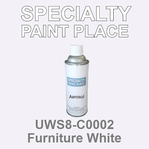 UWS8-C0002 Furniture White - Sherwin Williams 16oz aerosol spray can